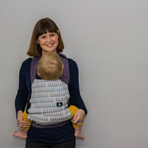 SLEEPY NICO BABY CARRIER GEOMETRIC GREY PASTEL TRIANGLES EXCLUSIVE DESIGN