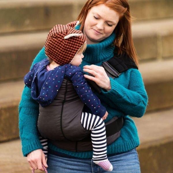 scootababy baby toddler easy hip side carrier uk discount sale slate dark grey