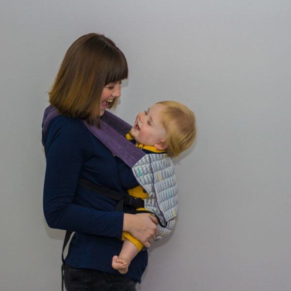 MUM AND TODDLER IN SLEEPY NICO BABY CARRIER