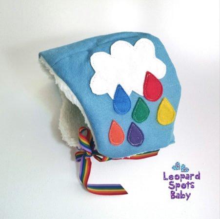 baby bonnet scandi rainbow uk