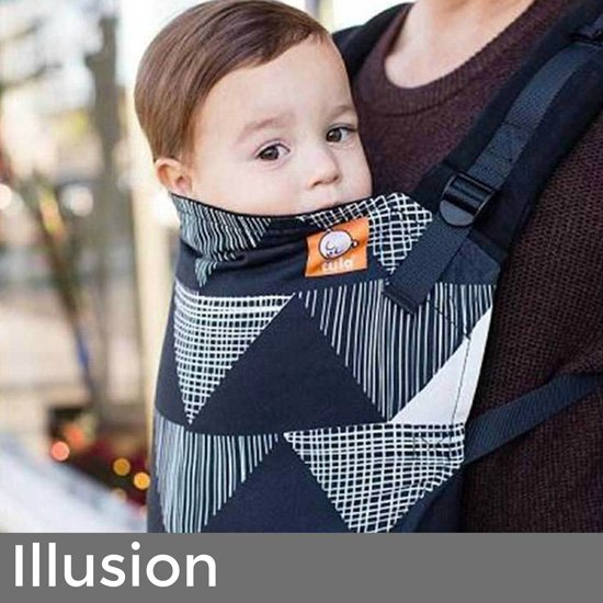tula baby carrier illusion black and white triangles uk free delivery