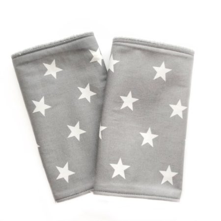 suck pads teething to protect baby carrier straps grey with white stars