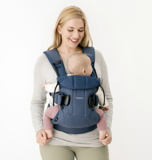 baby bjorn ergonomic Baby Carrier One, denim blue, Cotton babybjorn uk free delivery discount code front facing