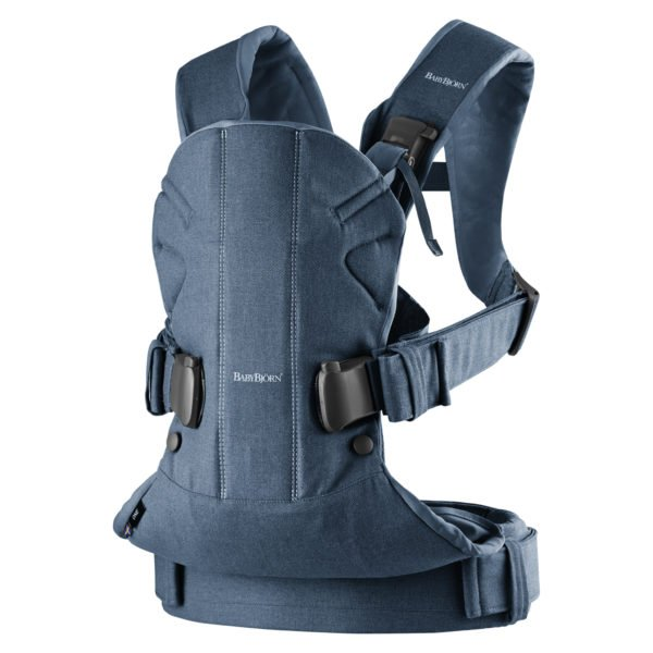 Baby Carrier One, denim blue, Cotton babybjorn uk free delivery discount code