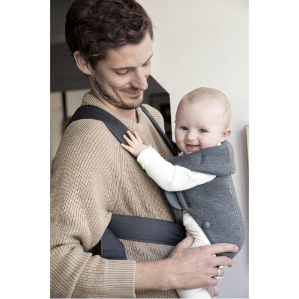 babybjorn bjorn baby carrier mini ergonomic easy newborn baby carrier uk dad wearing lifestyle