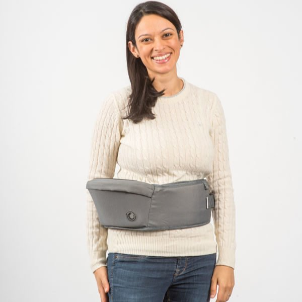 mum wearing hippychick hippy chick hip seat carrier