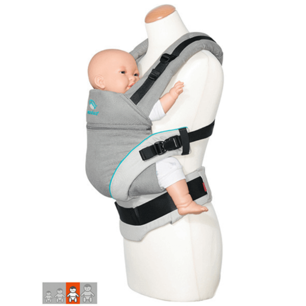 manduca xt uk ergonomic baby toddler carrier discount code free delivery grey blue side view