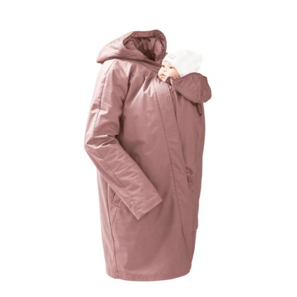 mamalila short coat babywearing maternity jacket uk discount code vintage rose product close up