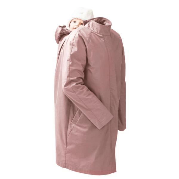 mamalila short coat babywearing maternity jacket uk discount code vintage rose product close up back carrying