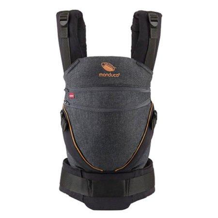 manduca xt black denim toffee uk product image uk ergonomic baby carrier back front