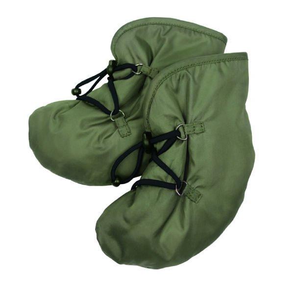 khaki green baby booties for babywearing winter windproof waterproof mamalila uk freed delivery