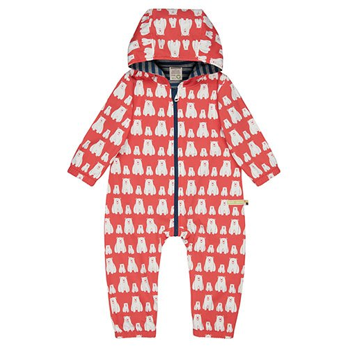 Loud + Proud water repellent outdoor overalls organic cotton printed rainsuit uk stockist