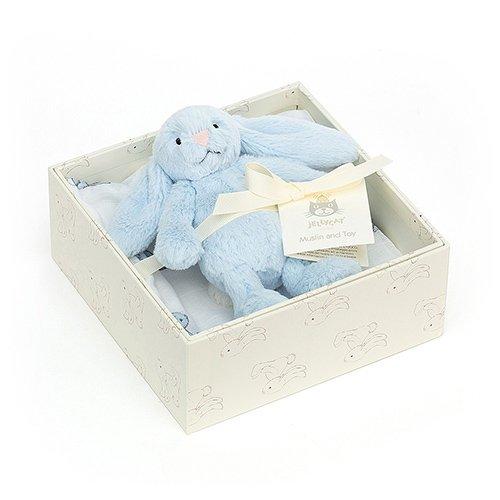 Jellycat Bashful Blue Bunny new baby gift set soft cuddly toy rabbit newborn present