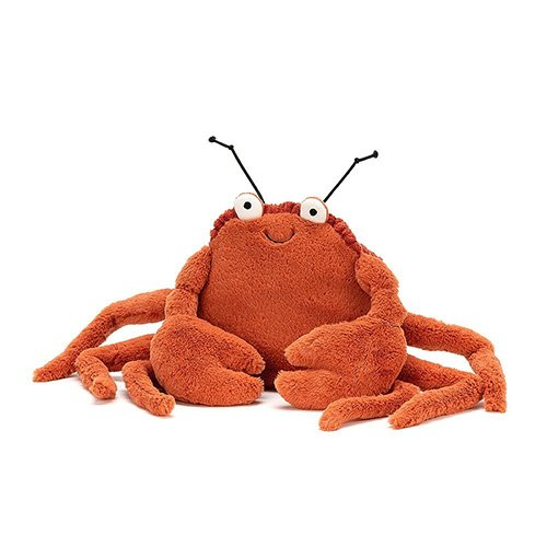 Jellycat Crispin Crab soft cuddly toy baby gift