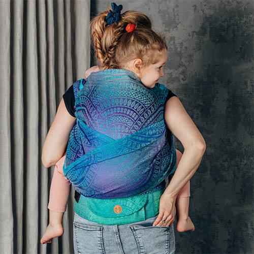 Lenny Lamb LennyHybrid Preschool toddler carrier half buckle ergonomic wrap